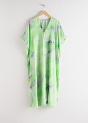 And other stories Lyocell Blend Tie Dye Kaftan Dress