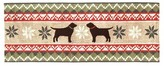 "Liora Manné Nordic Dogs Indoor/Outdoor Holiday Runner - Multi-Colored (27""X72"")"