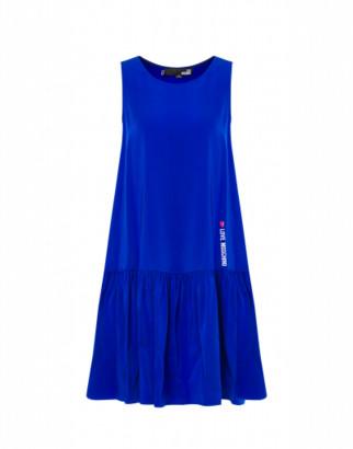 Love Moschino Stretch Cady Dress Woman Blue Size 38 It - (4 Us)