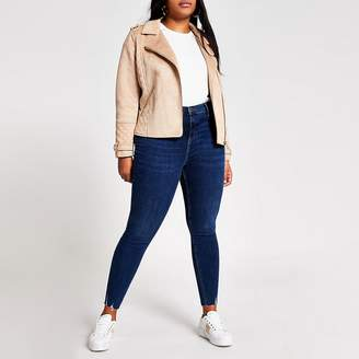 River Island Plus blue Molly mid rise jeggings