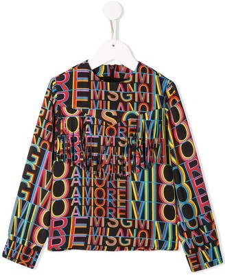 MSGM Kids Amor blouse