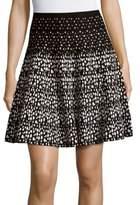 Saks Fifth Avenue BLACK Printed Flared Skirt