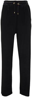 Balmain Stretch-velvet Track Pants
