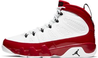 Jordan Air 9 'White/Red/Black' Shoes - Size 7.5