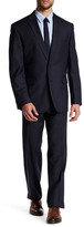 Vince Camuto Navy Birdseye Two Button Notch Lapel Modern Fit Wool Suit