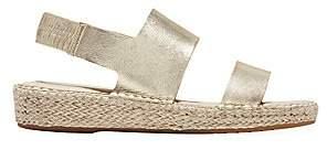 Cole Haan Women's Cloudfeel Metallic Leather Espadrille Sandals