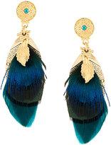 Gas Bijoux Sao metallic feather earrings