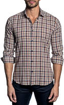 Jared Lang Semi-Fitted Plaid Sport Shirt