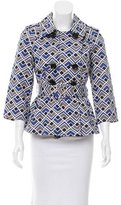 Kate Spade Geometric Printed Double-Breasted Jacket