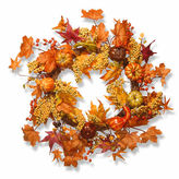 NATIONAL TREE CO National Tree Co. 24 Inch Maple And Pumpkin Wreath