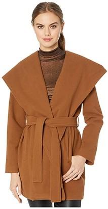 BB Dakota Take Cover Peacoat (Camel) Women's Clothing