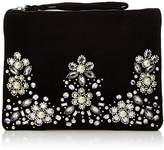 New Look Womens Jacquard Embellished Clutch