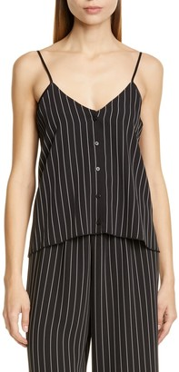 ATM Anthony Thomas Melillo Striped Button Front Camisole