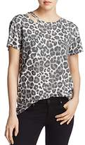 Pam & Gela Slash Leopard-Print Tee
