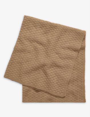 Caramel Lark cashmere baby blanket
