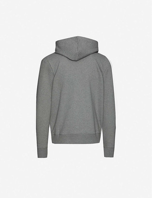 Paul Smith Logo-embroidered organic cotton-jersey hoody