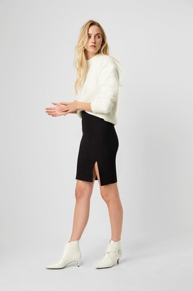 French Connection Street Twill Front Split Skirt