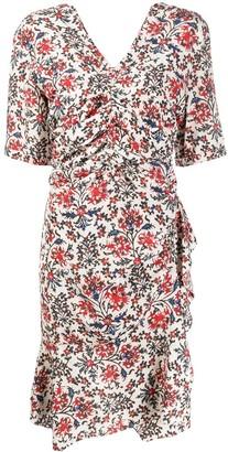 Isabel Marant Aroide V-neck ruched dress