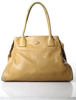 Tod's Tods Beige Tan Pebbled Leather Tote Handbag