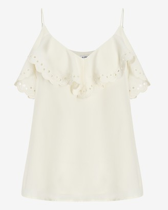 Express Scalloped Eyelet Lace Trim Cami