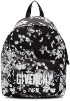 Givenchy Black and White Hydrangea Print Backpack