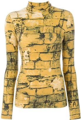 Jean Paul Gaultier Pre-Owned Bricks print top