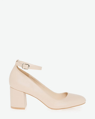 Le Château Faux Leather Ankle Strap Pump