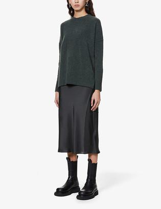 AllSaints Darla two-in-one wool-blend midi dress