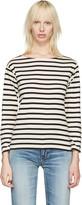 Saint Laurent White Striped Marlon T-Shirt