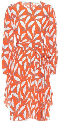 Diane von Furstenberg Leaf-printed silk dress