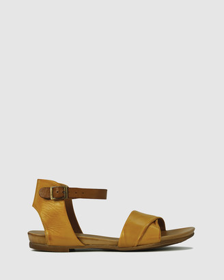 EOS Women's Yellow Strappy sandals - Larnia - Size One Size, 37 at The Iconic