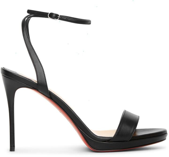 Christian Louboutin Loubi Queen 100 black sandals