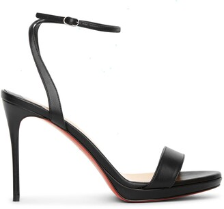 Christian Louboutin Loubi Queen 100 black sandals