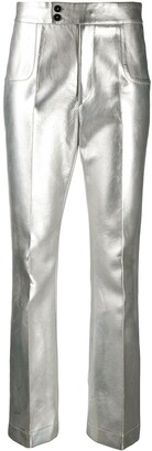 Philosophy di Lorenzo Serafini Flared Faux-Leather Trousers
