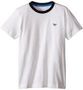 Armani Junior Basic T-Shirt with Navy Logo Boy's T Shirt