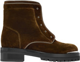 Alexander McQueen Velvet Ankle Boots