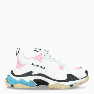 Balenciaga Women's pink/white/blue Triple S sneakers