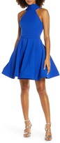 Mac Duggal High Neck Fit & Flare Party Dress