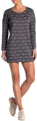 FRNCH Long Sleeve Print Dress