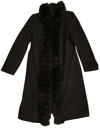 Harrods Black Wool Coat for Women