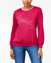 Alfred Dunner Royal Jewels Quilted Embroidered Sweatshirt