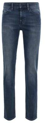 BOSS Slim-fit jeans in soft-washed comfort-stretch denim