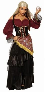 BuySeasons Women's Fortune Teller Female Dark Fortune Teller Adult Costume