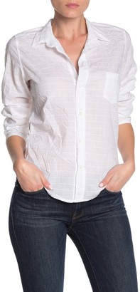 Frank And Eileen Barry Texturized Long Sleeve Button Front Shirt