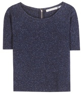 Alice + Olivia Bethanie wool and silk-blend top