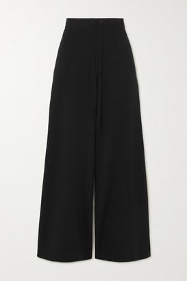 Co Merino Wool Straight-leg Pants - Black