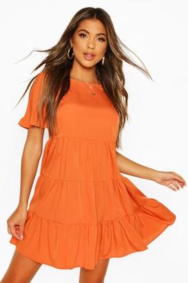 boohoo Woven Smock Dress