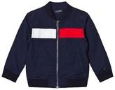 Tommy Hilfiger Navy Flag Bomber Jacket