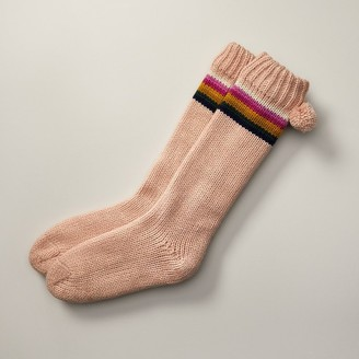 Indigo Lo-Fi Reading Socks Rose