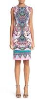 Roberto Cavalli Print Sheath Dress
